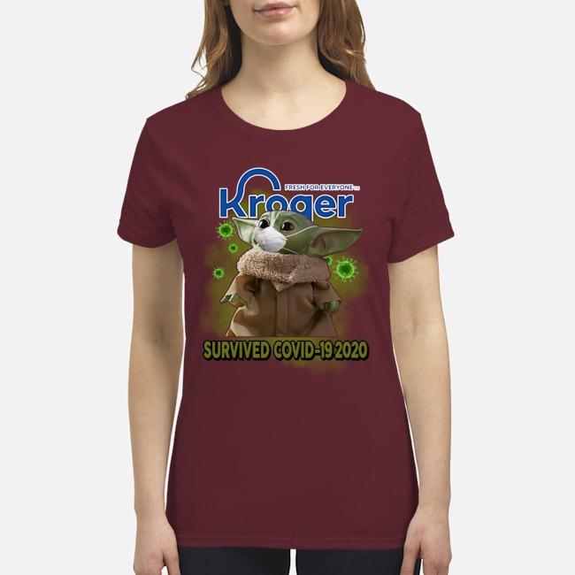 Baby Yoda kroger survived covid-19 2020 premium women's shirt