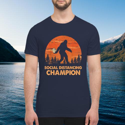 Bigfoot toilet paper social distancing champion premium men's shirt