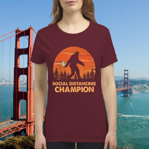 Bigfoot toilet paper social distancing champion premium women's shirt