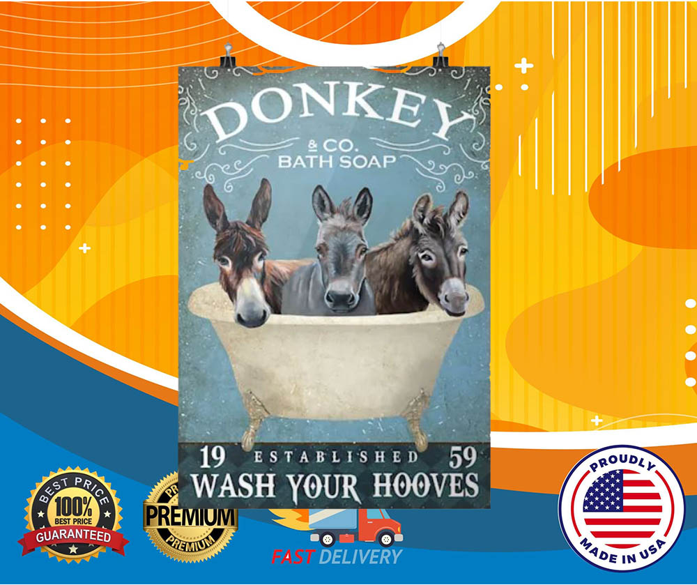Donkey bath soap wash your hooves hot poster