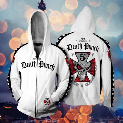 Five Finger Death Punch 3d zip hoodie