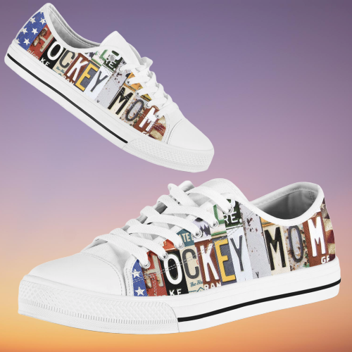 Hockey mom low top luxury shoes