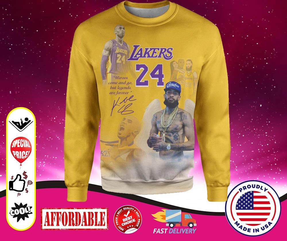Lakers 24 Kobe Bryant 3d over print hoodie and sweatshirt