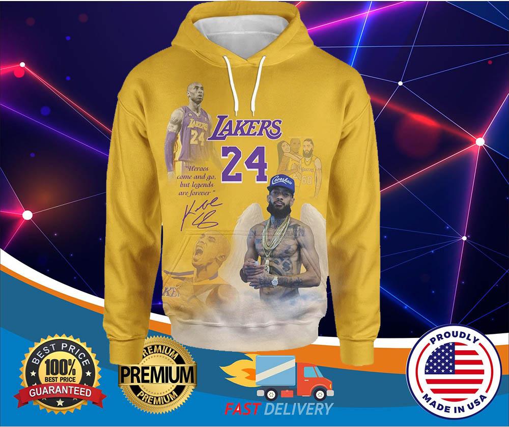 Lakers 24 Kobe Bryant 3d over print hoodies