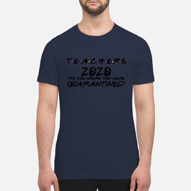 Mask face teachers 2020 quarantined premium men's shirt