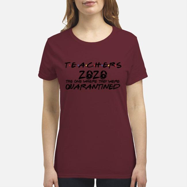 Mask face teachers 2020 quarantined premium women's shirt