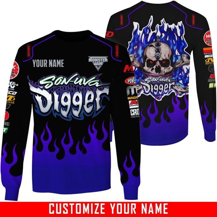 Monster Jam Son Uva Digger Custom name 3d hoodie and sweatshirt