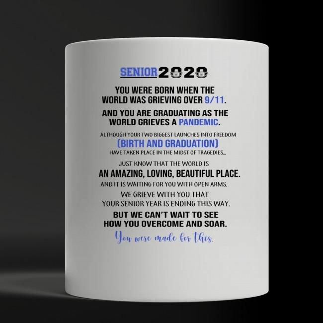 Senior 2020 custom name white mug