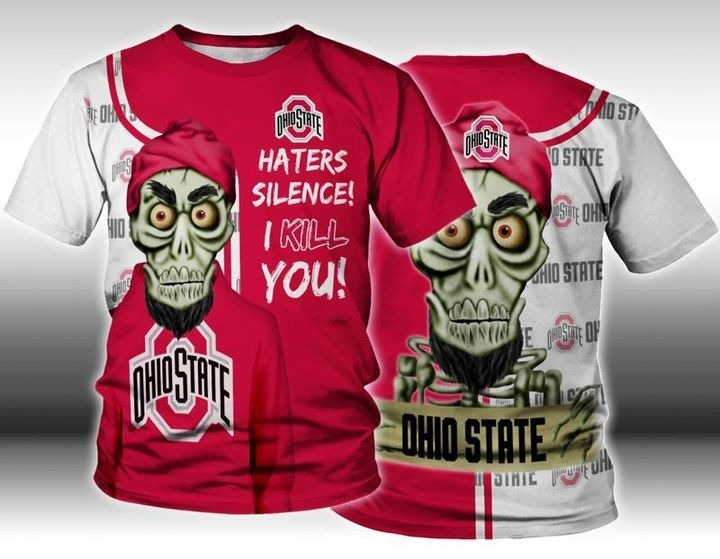 Skull Ohio State haters silence i kill you 3d hoodie and shirt