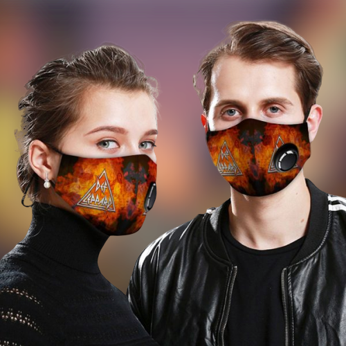 Def Leppard face mask