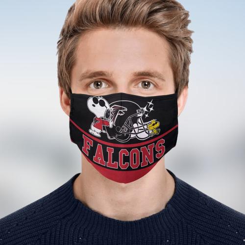 Snoopy Atlanta Falcons Face Mask