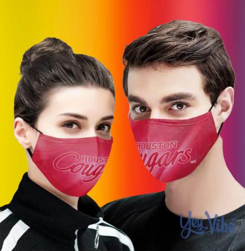 Houston Cougars Cloth Face Mask