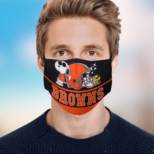 Snoopy Cleveland Browns Face Mask