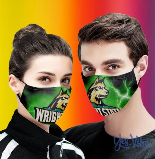 Wright State University huskie face mask