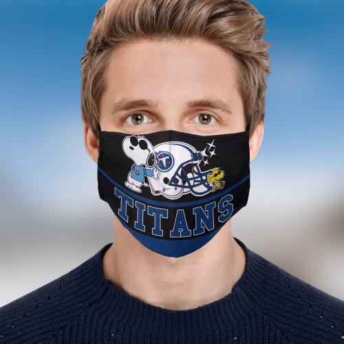 Snoopy Tennessee Titans Face Mask