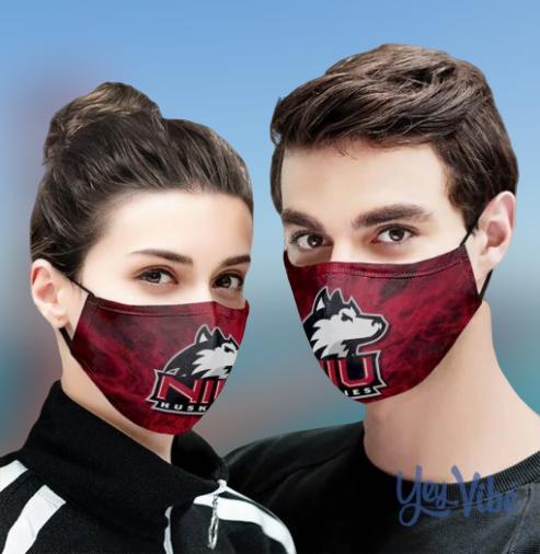 NIU Huskies face mask