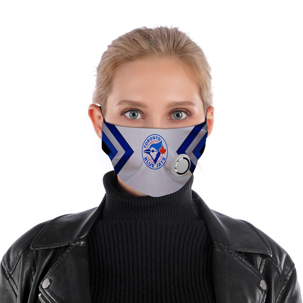 Toronto blue jays face mask