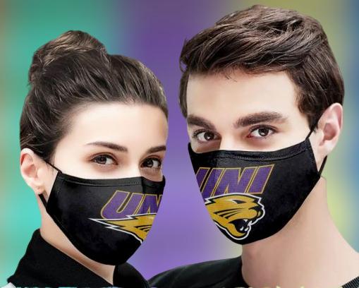 Northern Iowa Panthers face mask