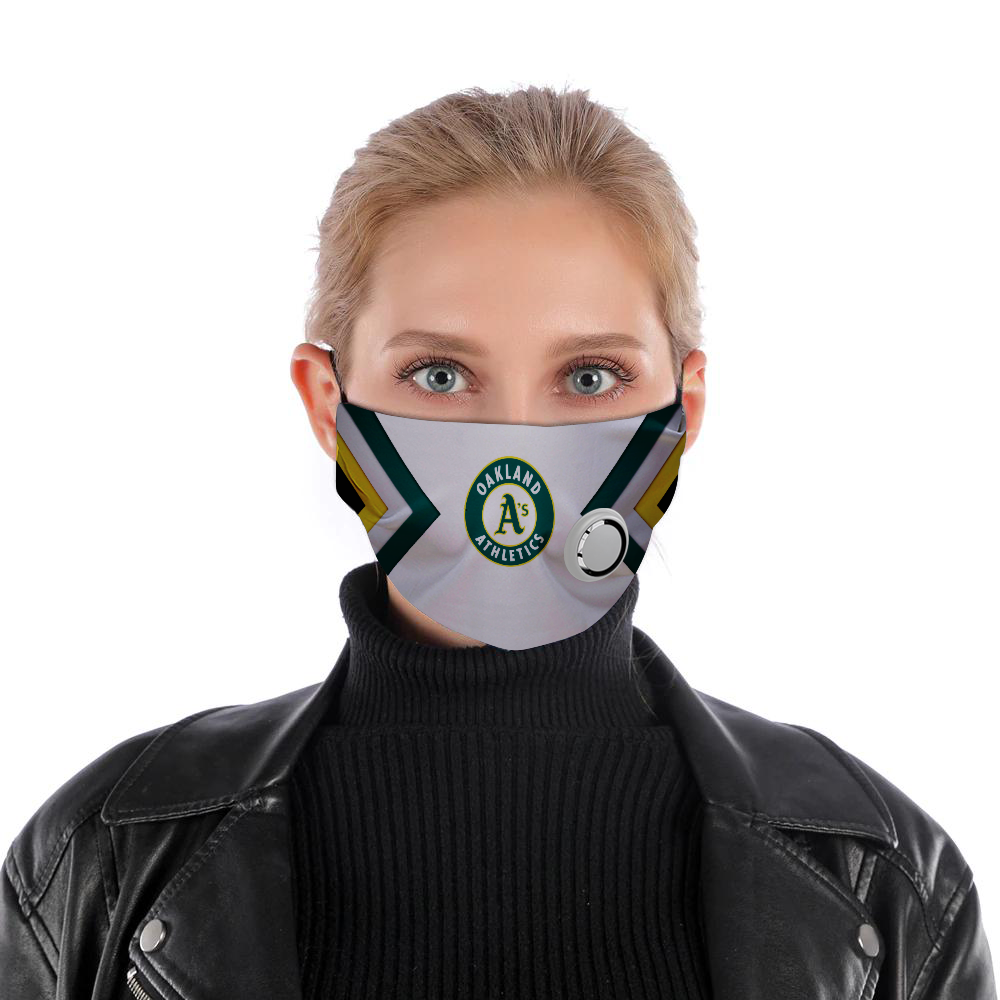 Oakland athletics face mask