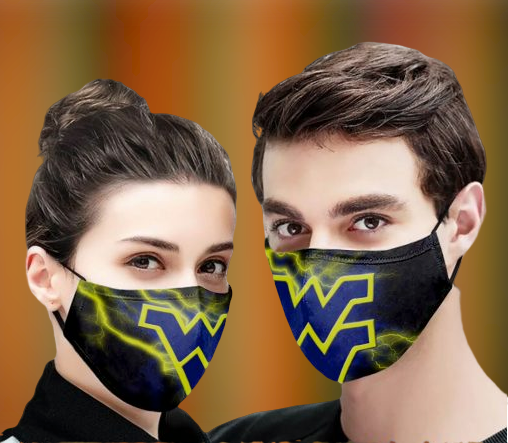 West Virginia Mountaineers football face mask