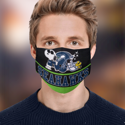 Snoopy Seattle Seahawks Face Mask