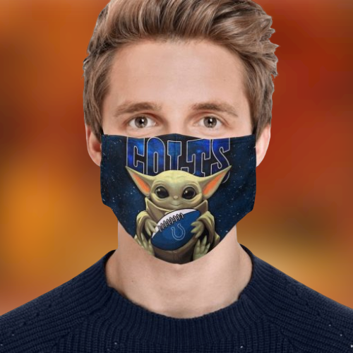 Baby Yoda Colts Face Mask
