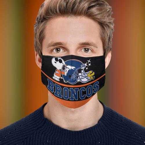 Snoopy Denver Broncos Face Mask