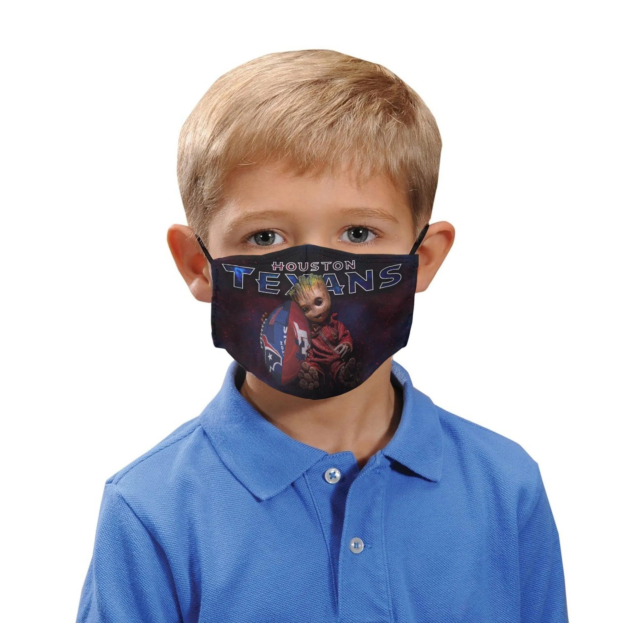 Baby Groot Houston Texans Face Masks1