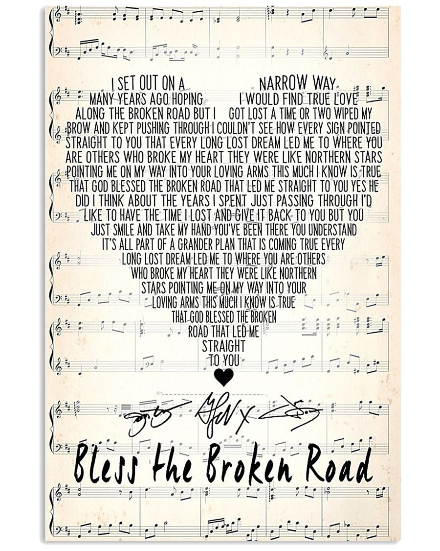 Bless the broken road poster