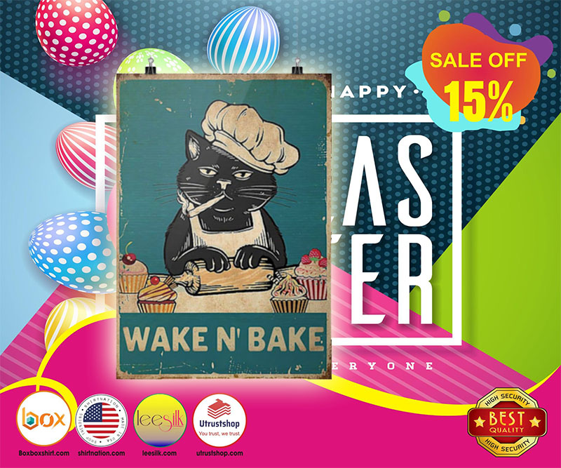 Cat wake n bake poster
