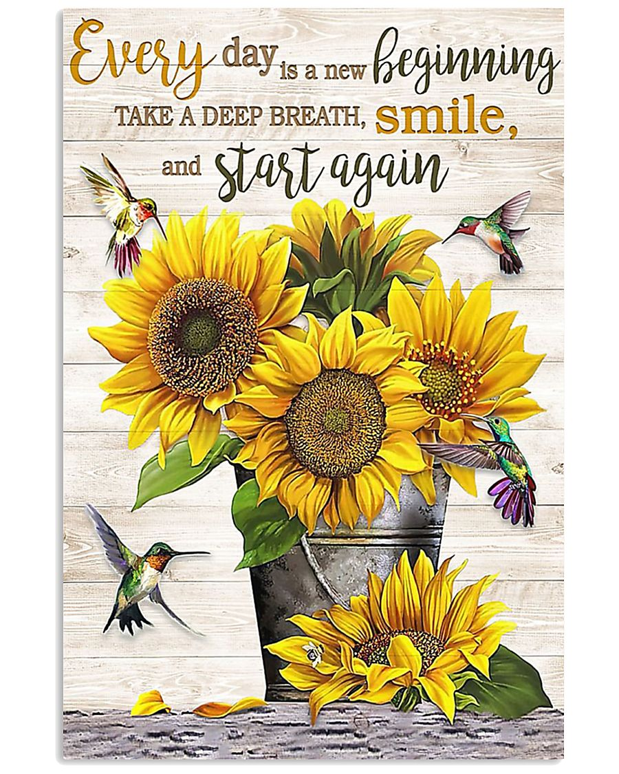 Every day is a new beginning take a deep breath smile and start again poster
