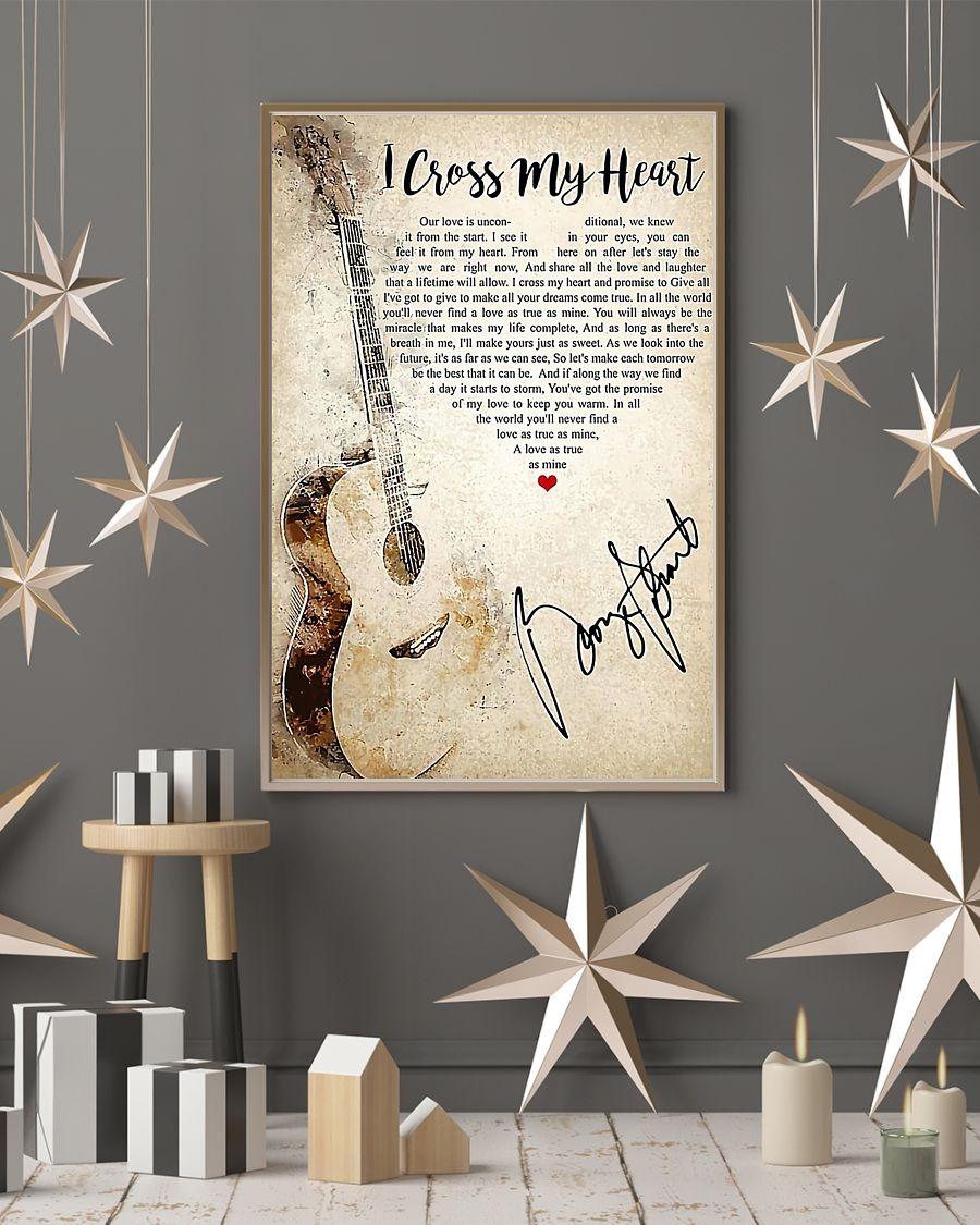 Guitar I cross my heart lyrics poster