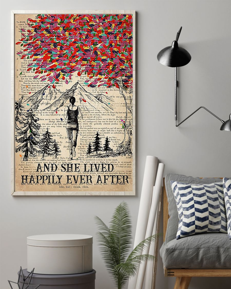 Hiking and she lived happily ever after poster