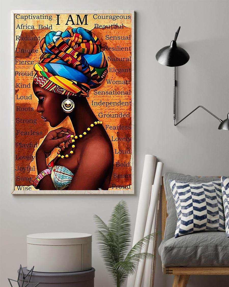 I am black girl poster