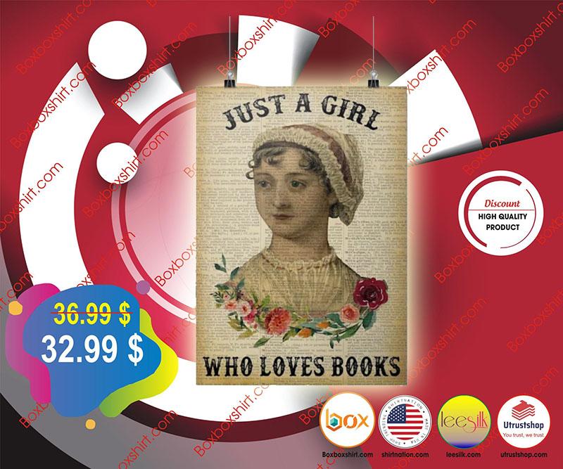 Jane Austen just a girl who loves books poster