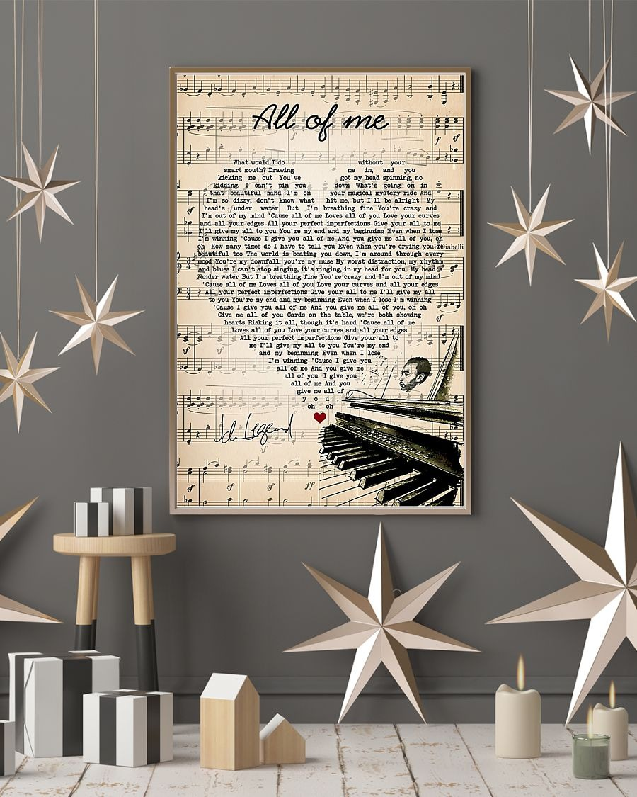 John Legend all of me lyrics poster