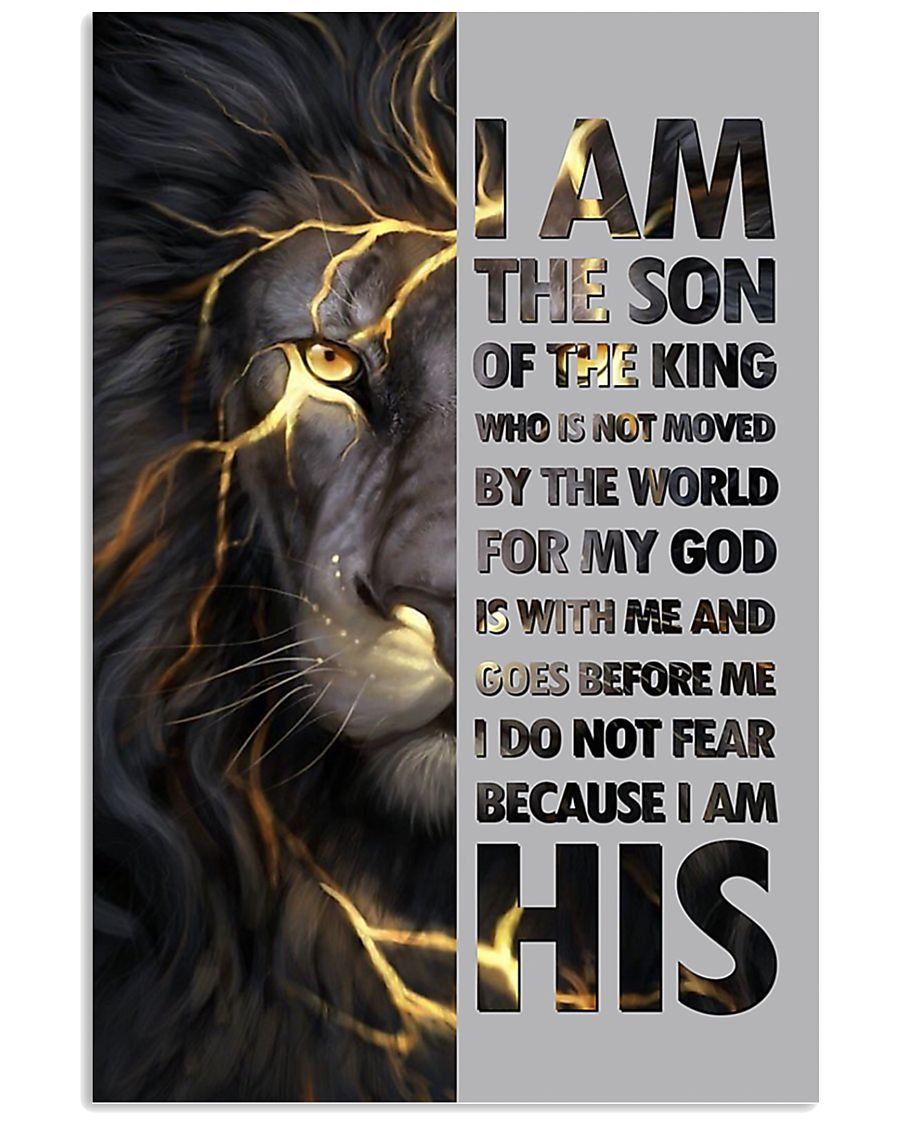Lion I am the son of the king poster