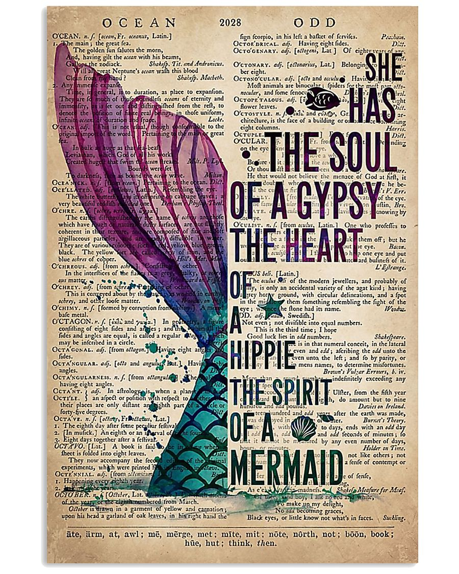 She has the soul of a gypsy the heart of a hippie the spirit of a mermaid poster