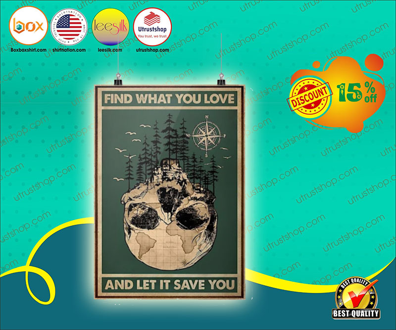 Skull find what you love and let it save you poster