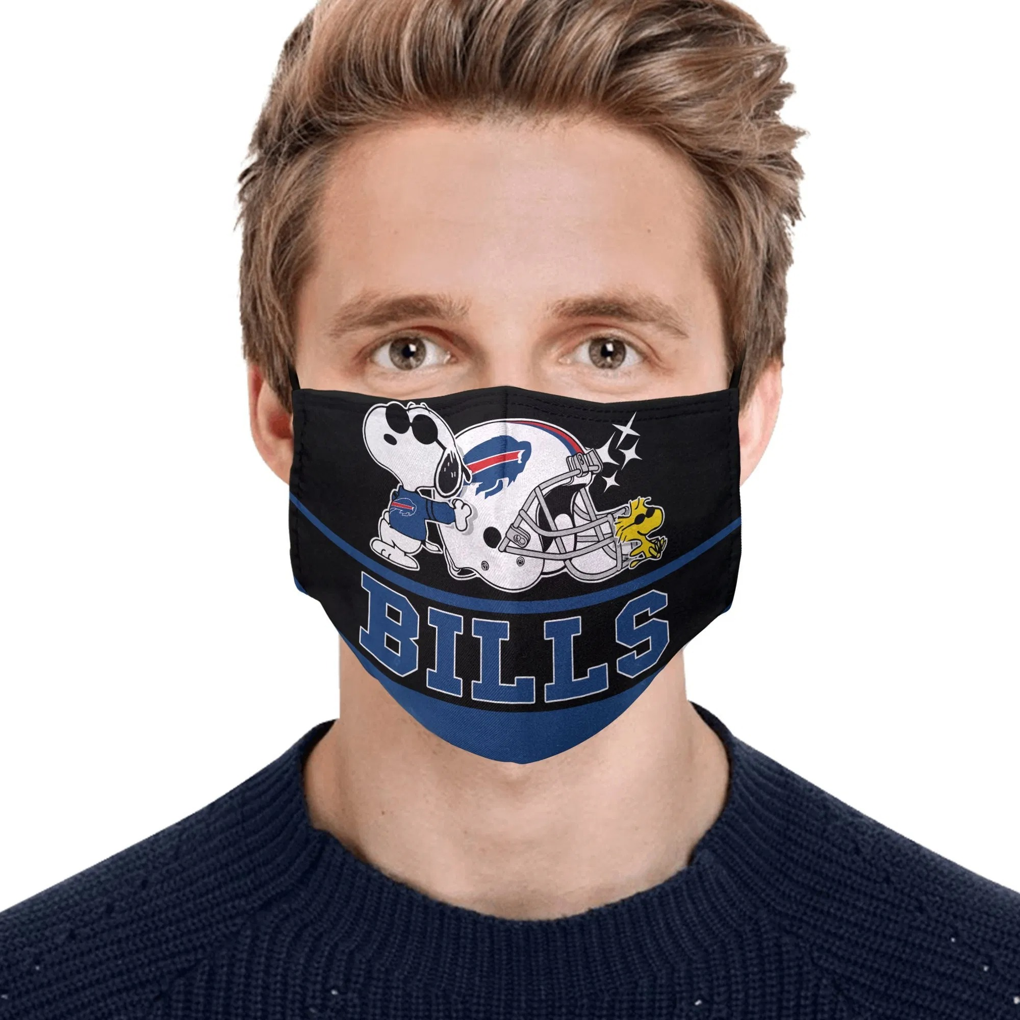 Snoopy Buffalo Bills Face Mask