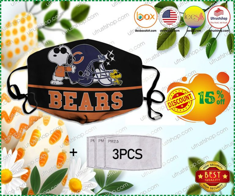 Snoopy Chicago Bears Face Mask