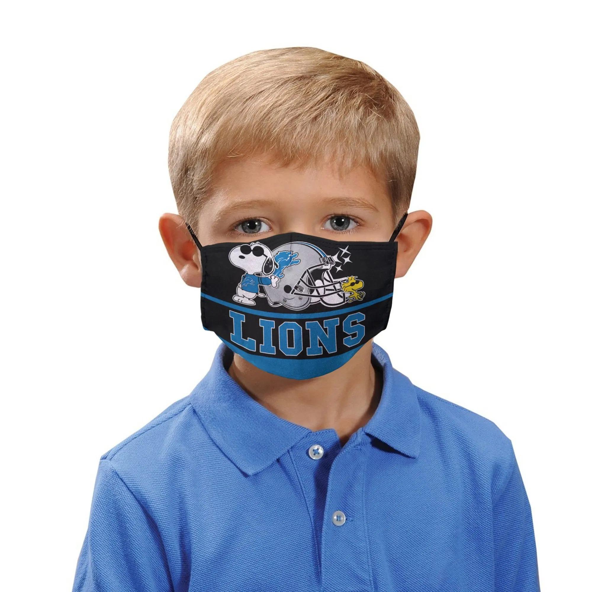 Snoopy Detroit Lions Face Mask