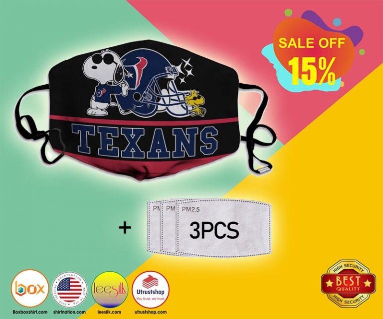 Snoopy Houston Texans Face Mask