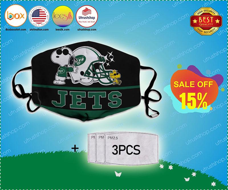 Snoopy New York Jets Face Mask