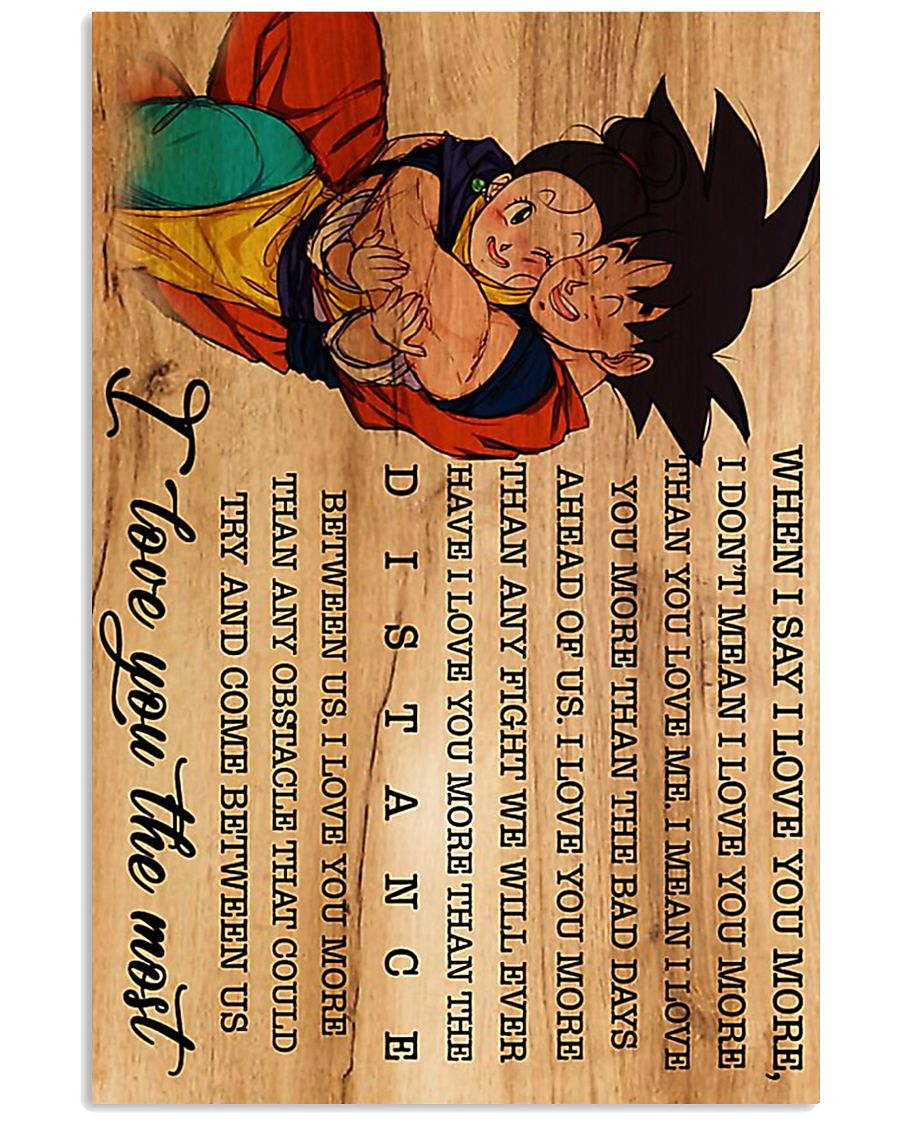 Son Goku Chichi I love you the most poster