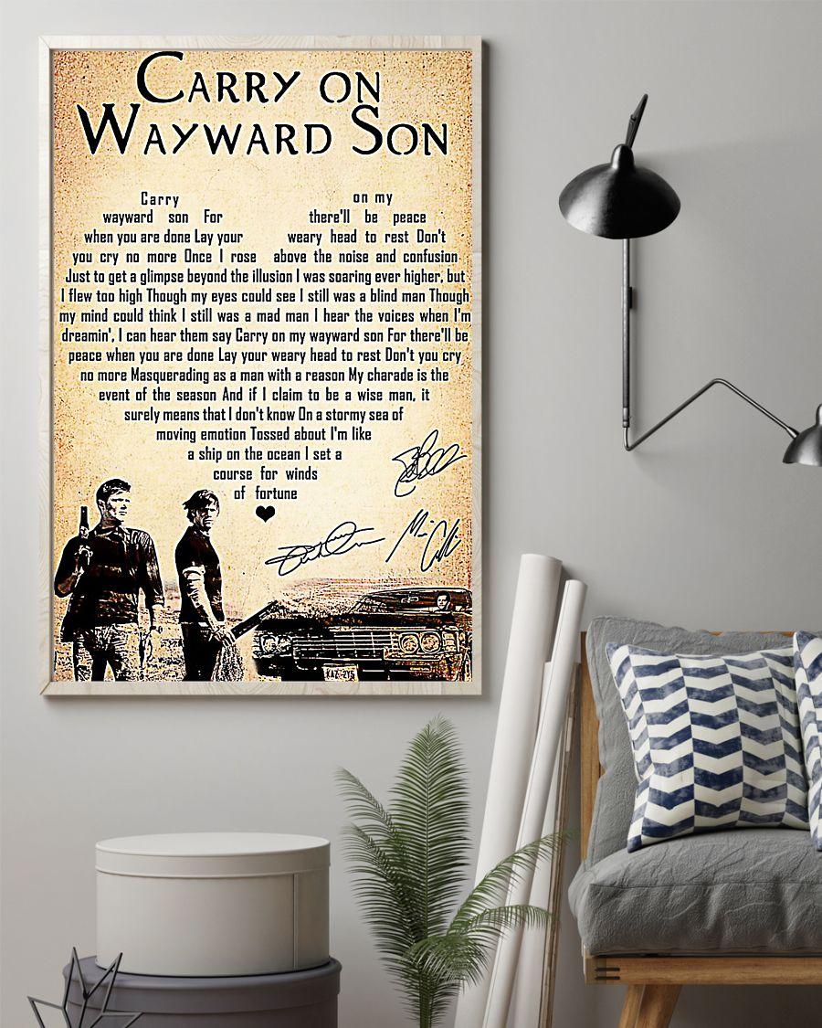 Supernatural carry on wayward son poster
