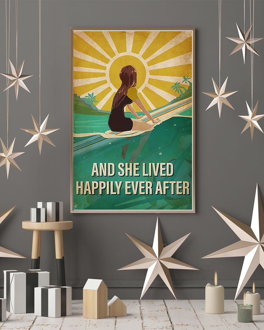 Surfing and she lived after ever poster
