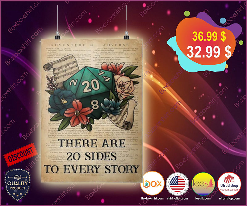 There are 20 sides to every story poster