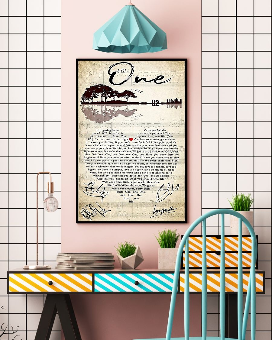 U2 One lyrics poster