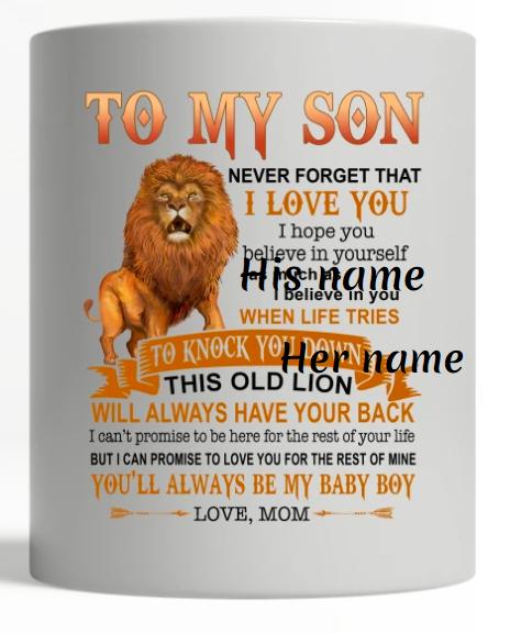 Lion to my son mug
